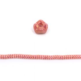 Chalk Red Luster Czech Glass Snake Bead 6mm Pk40