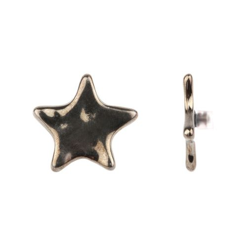 Gunmetal Plated Star Pin Charm for Bangle with Stopper 28mm Pk1