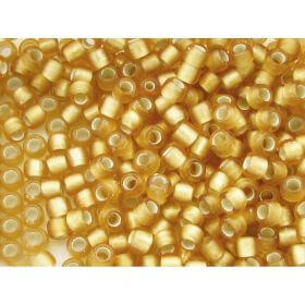 TOHO ™ / Round 8/0 / Silver-Lined Frosted / Lt Topaz / 10g / ~ 300pcs