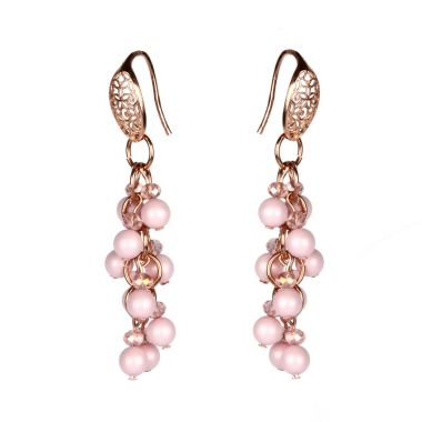 Pastel Rose Pearl Earrings
