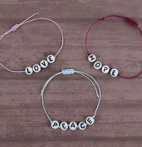 Love Hope & Peace Bracelets