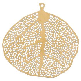 Tree / pendant filigree / surgical steel / 38x38mm / dark gold plated / 1pcs