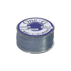 TOHO One-G ™ / nylon thread for beads / grey-blue / thickness 0.35mm / 46m