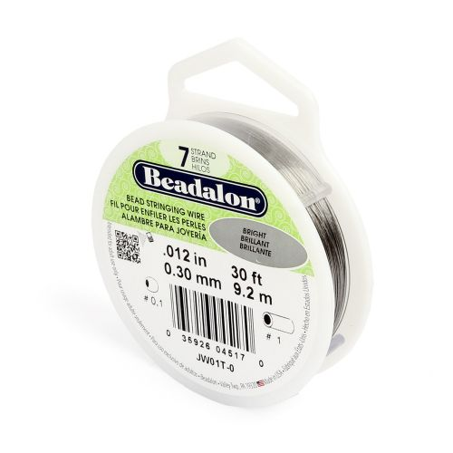 Beadalon 7 Strand Flexible Beading Wire 'Bright' 0.012in 30ft