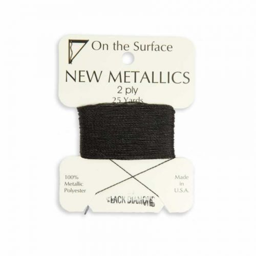 X-Metallic Thread for Kumihimo Braiding 25yds Black Diamond