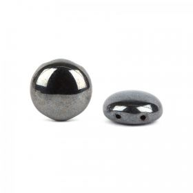 Preciosa Big Candy Czech Twin Hole Dark Gunmetal 12mm Pk20