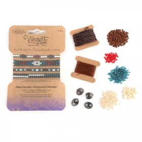 WrapIt Loom Gunmetal Bead Bracelet Refill Kit - Makes 4 Bracelets