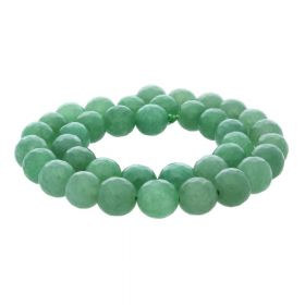 Agate / faceted round / 10mm / milky green / 35pcs