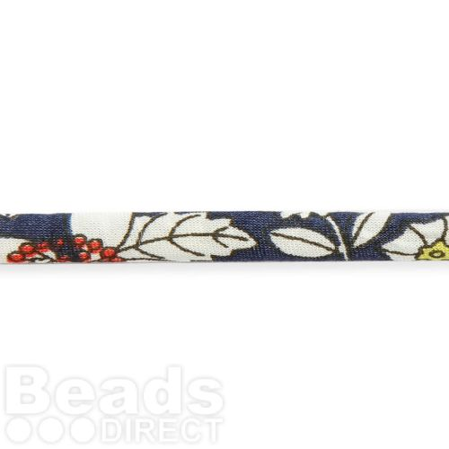 Liberty of London Ribbon Spaghetti Navy and White Sunflower Mix 4mm 1metre