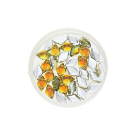 GEMDUO™ / 8x5mm / Backlit / Sunflower / 5g / ~35pcs