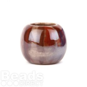 Brown Tone XLarge Ceramic Rondelle Beads 24x36mm Pk1