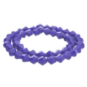 CrystaLove™ crystals / glass / bicone / 4mm / navy / lustered / 110pcs
