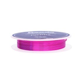Fuchsia Colour Copper Craft Wire 24 Gauge (0.5mm) 10metre Reel