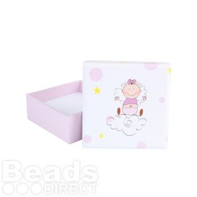 Baby Girl Pink Jewellery Gift Box with Insert 65x25mm Pk1