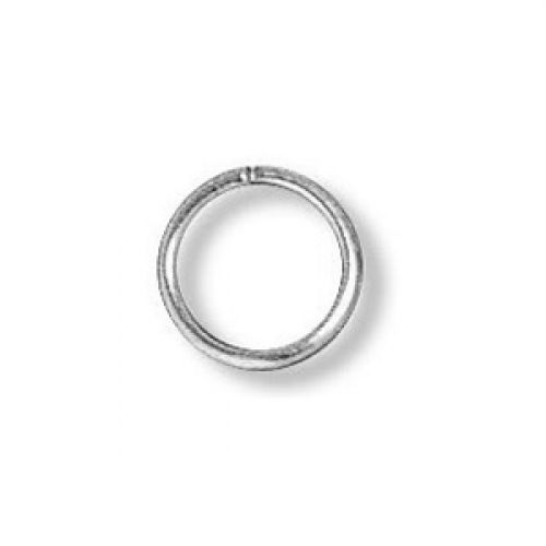 Jumprings silver-plated 8mm. Pack of 100