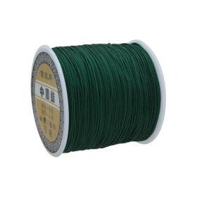 Macramé™ / Macramé cord / nylon / 0.8mm / bottle green / 100m
