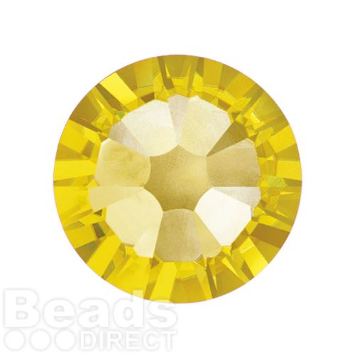 2088 Swarovski Crystal Flat Backs Non HF 7mm SS34 Light Topaz F Pk144