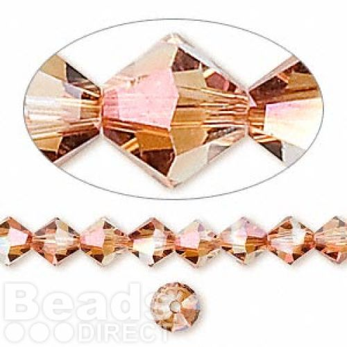 5328 Swarovski Crystal Bicones Xillion 6mm Copper Pk24