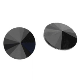 Bonny™ / crystal glass / rivoli / 8mm / Jet / 14pcs