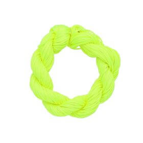 Mcord ™ / Macramé cord / nylon / 1.5mm / neon yellow / 13m