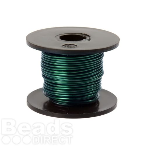 Vivid Green Coloured Copper Craft Wire 0.9mm 8metre Reel