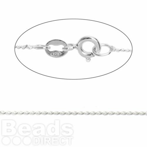 Sterling Silver Fine Curb Chain with Clasp 20inches