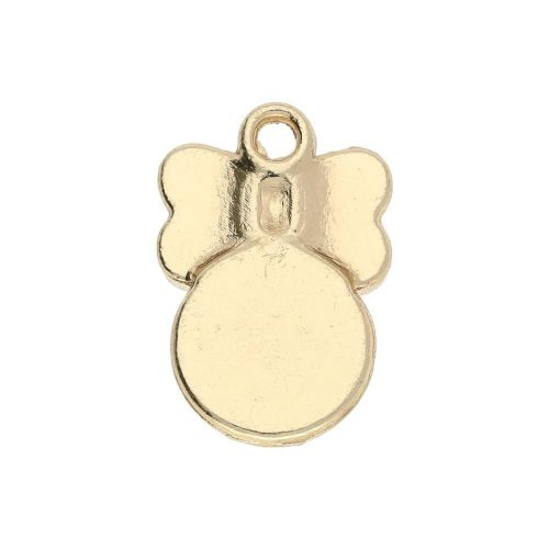 SweetCharm ™ Butterfly / charm pendant / 15x10x4mm / gold plated / pink / 2pcs