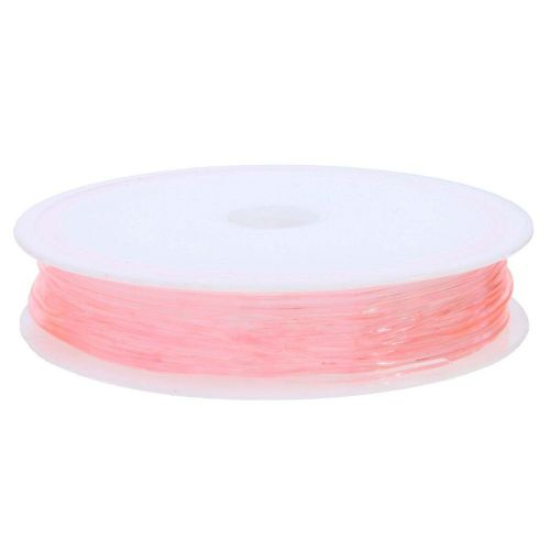 Silicone rubber / spool / 0.8mm / pink / 8m