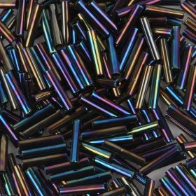 Toho Bugle Seed Beads Size 3.9mm Metallic Rainbow Iris 10g