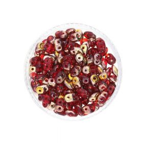 SuperDuo™ / glass beads / 2.5x5mm / Copper / Siam Ruby / 10g / ~140pcs