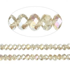 Essential Crystal Faceted 4mm Rondelle Gunmetal AB 150pack