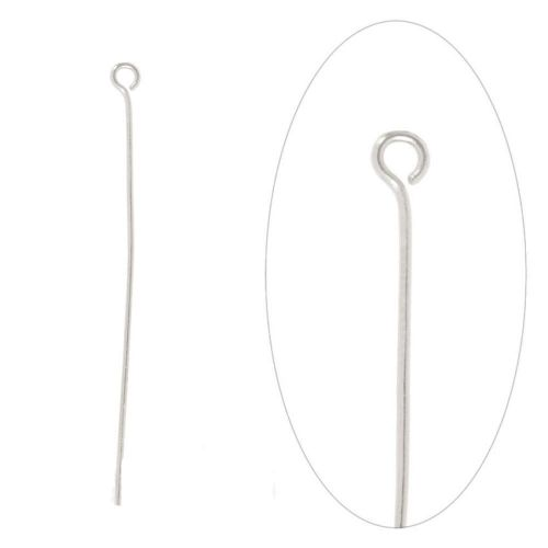 Silver Plated Iron Eyepins 50mm (2 inch) Pk100