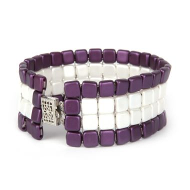Striped Square Mosaic Bracelet