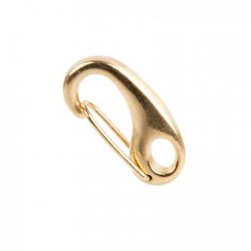 Gold Plated Oval Carabiner Clasp 10x22mm Pk1