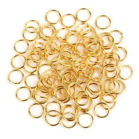 Gold Plated Jump Ring 10mm pk100
