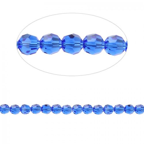 5000 Swarovski Crystal Faceted Round Beads 6mm Majestic Blue Pk12