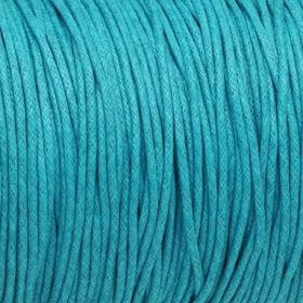 Waxed cord / 1.5mm / blue / 1m