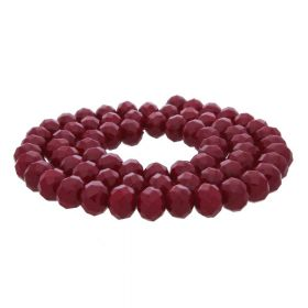 Milly™ / rondelle / 8x10mm / burgundy / 70pcs