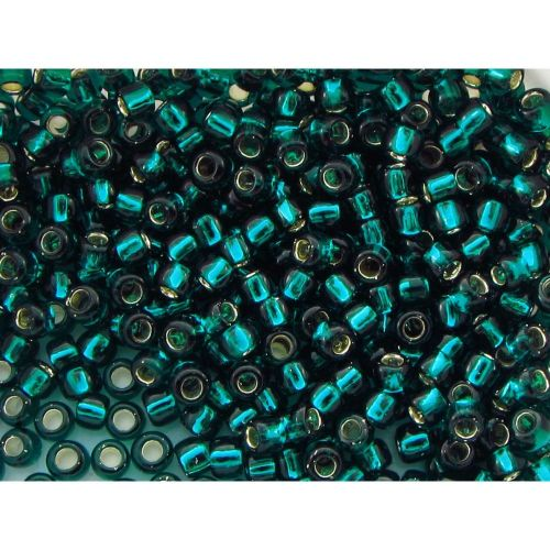TOHO™ / Round 8/0 / Silver Lined / Teal / 10g