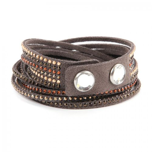 Swarovski Twist Bracelet with Popper Brown-Bronze Mix 40cm Pk1 Retail 59.99
