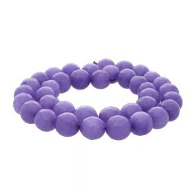 Agate / faceted round / 10mm / violet / 35pcs