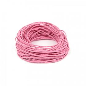 Pink Hemp Semi Waxed Braiding Cord 1.5mm 10metre