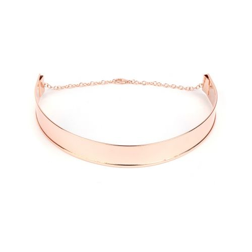 Rose Gold Plated Choker Base 18mm w/Chain and Lobster Pk1