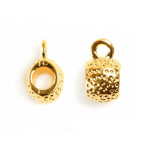 X Gold Plated Charm Carrier 5mm Pk1