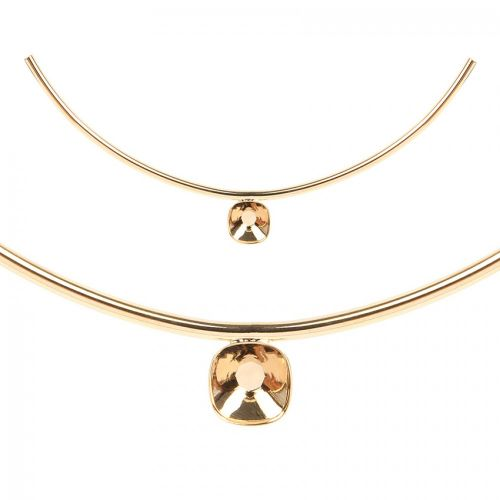 Gold Plated Curved Tube with 12mm Setting 160x3mm PK1