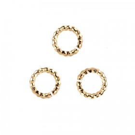 Gold Plated Diamond Cut Jump Rings 1.2x6.5mm Pk10