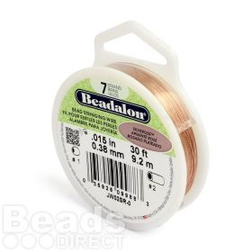 Beadalon 7 Strand Flexible Beading Wire 'Silver Rose' 0.015in 30ft
