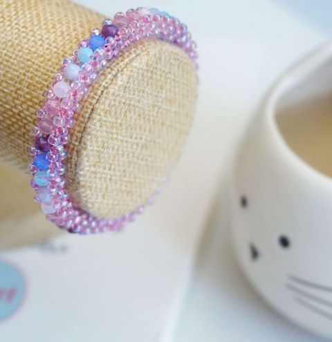 LEARN HOW TO MAKE A BEADED BANGLE BRACELET - CRAW JEWELLERY MAKING TUTORIAL