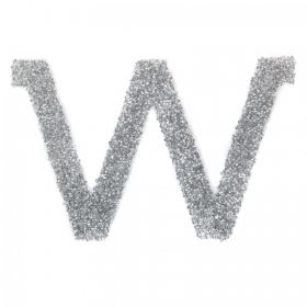 Swarovski Crystal Letter 'W' Self-Adhesive Fabric-It Transparent CAL Pk1