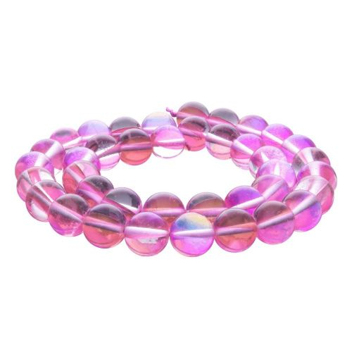 Cubic zirconia (synthetic) / round / 12mm / pink / 32pcs